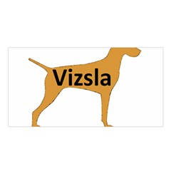 Vizsla Name Silo Color Satin Shawl