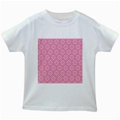 Pattern Kids White T-Shirts