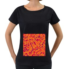 Pattern Women s Loose-Fit T-Shirt (Black)