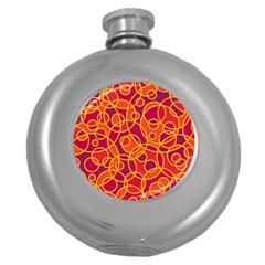 Pattern Round Hip Flask (5 Oz)