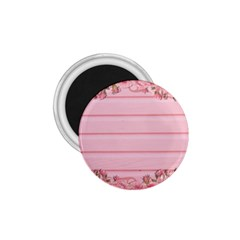 Pink Peony Outline Romantic 1.75  Magnets