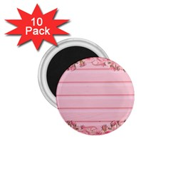 Pink Peony Outline Romantic 1 75  Magnets (10 Pack)