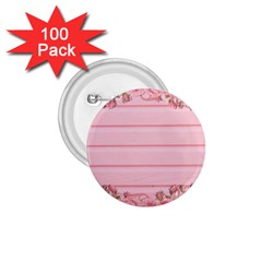 Pink Peony Outline Romantic 1 75  Buttons (100 Pack)