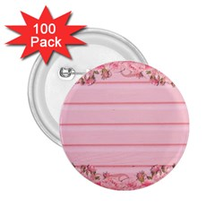 Pink Peony Outline Romantic 2 25  Buttons (100 Pack)