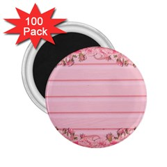 Pink Peony Outline Romantic 2.25  Magnets (100 pack)