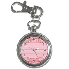 Pink Peony Outline Romantic Key Chain Watches