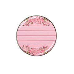 Pink Peony Outline Romantic Hat Clip Ball Marker