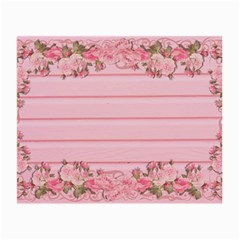 Pink Peony Outline Romantic Small Glasses Cloth