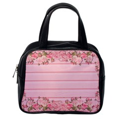 Pink Peony Outline Romantic Classic Handbags (One Side)