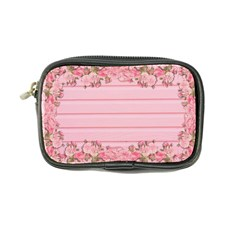 Pink Peony Outline Romantic Coin Purse