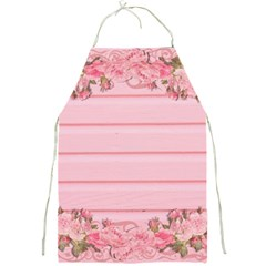 Pink Peony Outline Romantic Full Print Aprons