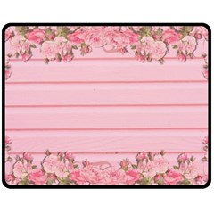 Pink Peony Outline Romantic Fleece Blanket (medium)