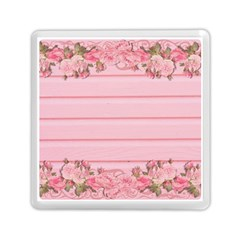 Pink Peony Outline Romantic Memory Card Reader (square)