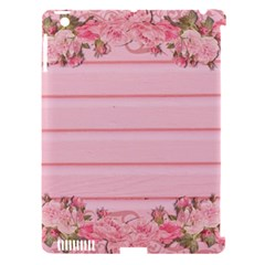 Pink Peony Outline Romantic Apple iPad 3/4 Hardshell Case (Compatible with Smart Cover)