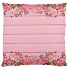 Pink Peony Outline Romantic Large Cushion Case (One Side)
