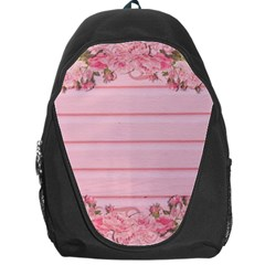 Pink Peony Outline Romantic Backpack Bag