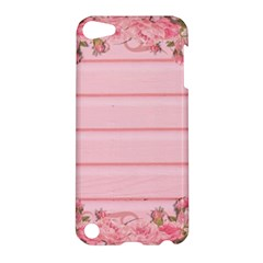 Pink Peony Outline Romantic Apple iPod Touch 5 Hardshell Case