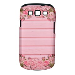 Pink Peony Outline Romantic Samsung Galaxy S Iii Classic Hardshell Case (pc+silicone)