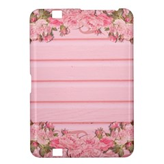 Pink Peony Outline Romantic Kindle Fire HD 8.9