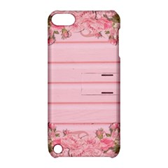 Pink Peony Outline Romantic Apple iPod Touch 5 Hardshell Case with Stand