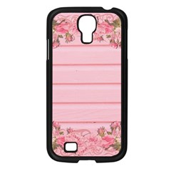 Pink Peony Outline Romantic Samsung Galaxy S4 I9500/ I9505 Case (Black)