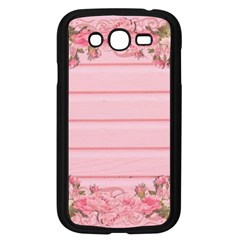 Pink Peony Outline Romantic Samsung Galaxy Grand DUOS I9082 Case (Black)