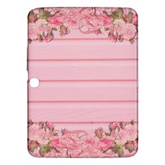 Pink Peony Outline Romantic Samsung Galaxy Tab 3 (10 1 ) P5200 Hardshell Case