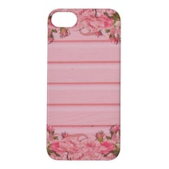 Pink Peony Outline Romantic Apple Iphone 5s/ Se Hardshell Case