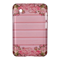 Pink Peony Outline Romantic Samsung Galaxy Tab 2 (7 ) P3100 Hardshell Case