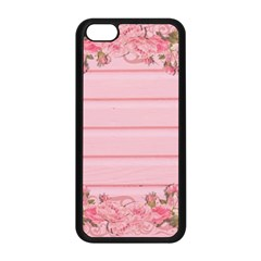 Pink Peony Outline Romantic Apple iPhone 5C Seamless Case (Black)