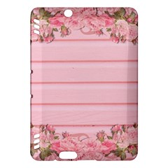 Pink Peony Outline Romantic Kindle Fire HDX Hardshell Case