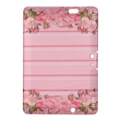 Pink Peony Outline Romantic Kindle Fire HDX 8.9  Hardshell Case