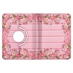 Pink Peony Outline Romantic Kindle Fire HDX Flip 360 Case