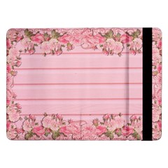 Pink Peony Outline Romantic Samsung Galaxy Tab Pro 12.2  Flip Case