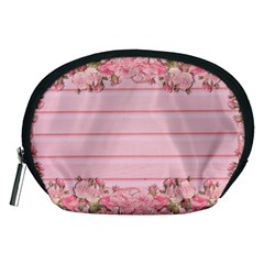 Pink Peony Outline Romantic Accessory Pouches (Medium)