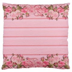 Pink Peony Outline Romantic Standard Flano Cushion Case (One Side)