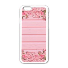 Pink Peony Outline Romantic Apple Iphone 6/6s White Enamel Case