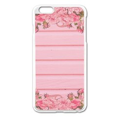 Pink Peony Outline Romantic Apple iPhone 6 Plus/6S Plus Enamel White Case
