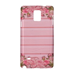 Pink Peony Outline Romantic Samsung Galaxy Note 4 Hardshell Case
