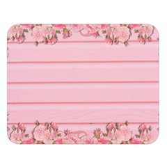 Pink Peony Outline Romantic Double Sided Flano Blanket (large)