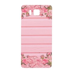 Pink Peony Outline Romantic Samsung Galaxy Alpha Hardshell Back Case