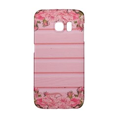 Pink Peony Outline Romantic Galaxy S6 Edge