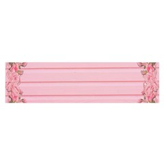 Pink Peony Outline Romantic Satin Scarf (Oblong)