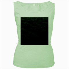 Dark Lake Ocean Pattern River Sea Women s Green Tank Top