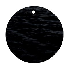 Dark Lake Ocean Pattern River Sea Round Ornament (Two Sides)