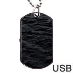 Dark Lake Ocean Pattern River Sea Dog Tag USB Flash (One Side)