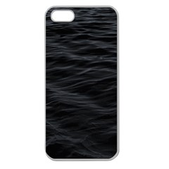 Dark Lake Ocean Pattern River Sea Apple Seamless Iphone 5 Case (clear)