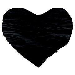 Dark Lake Ocean Pattern River Sea Large 19  Premium Flano Heart Shape Cushions