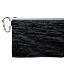 Dark Lake Ocean Pattern River Sea Canvas Cosmetic Bag (L)