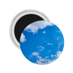 Sky Blue Clouds Nature Amazing 2.25  Magnets
